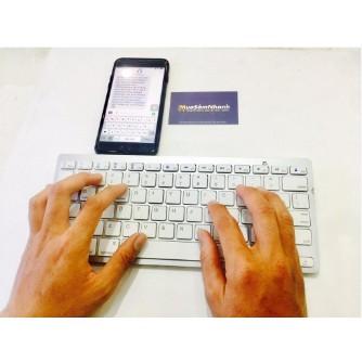 (Loại tốt) Bàn phím KB16 kết nối bluetooth cho Iphone, Ipad, Smartphone không cần Cáp OTG