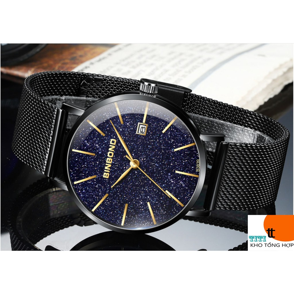 (CHÍNH HÃNG) Đồng hồ nam chính hãng BINBOND dây thép Titanium cao cấp. Có hộp Hãng. ( Mã BIN0X)