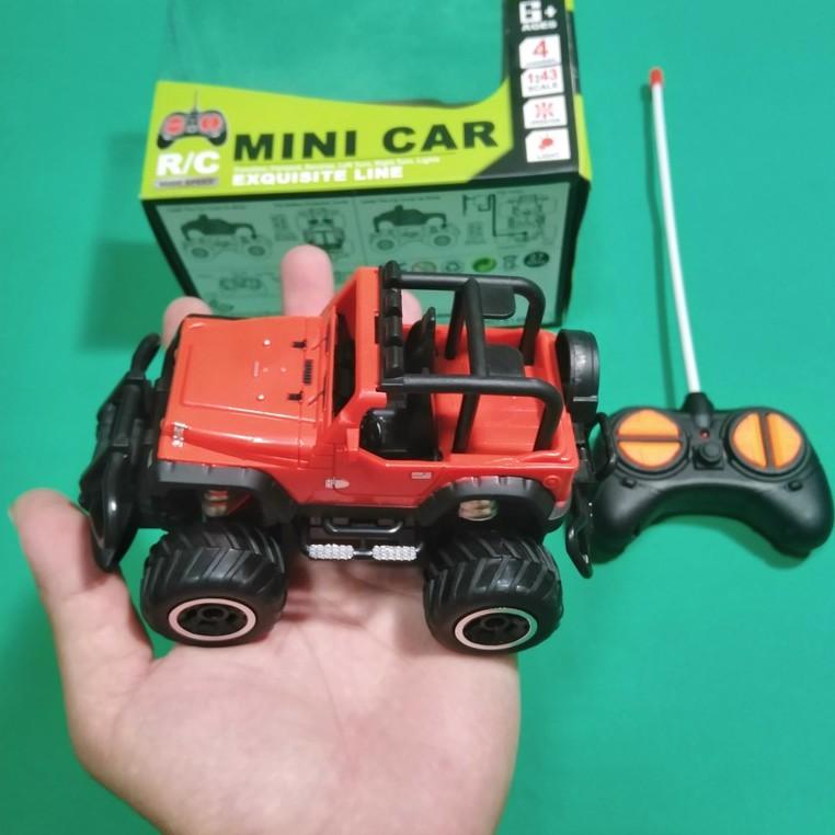 Xe Điều Khiển Từ Xa Địa Hình MINI CAR 15x10x10cm Màu Đỏ