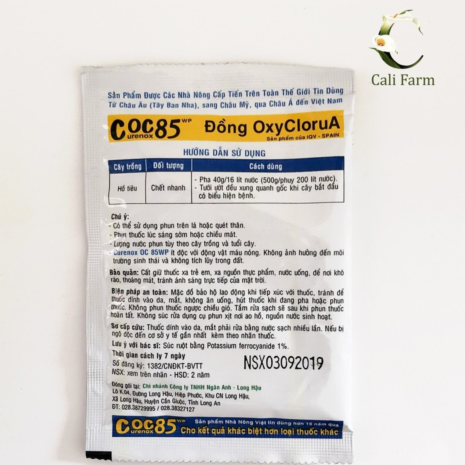 Coc 85 ( 20g) -Thuốc trừ bệnh cho cây hoa lan, hoa mai