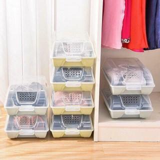 [XẢ TẾT] Hộp Đựng Giày Nắp Nhựa Cứng Lắp Ráp Thông Minh _Giá Sỉ Lẻ