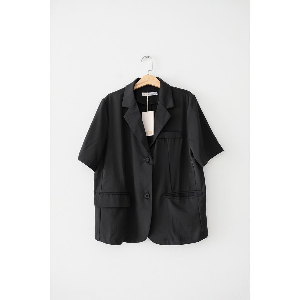 Áo Blazer Mỏng Tay Ngắn Nữ | HQ2273 | Lana Official