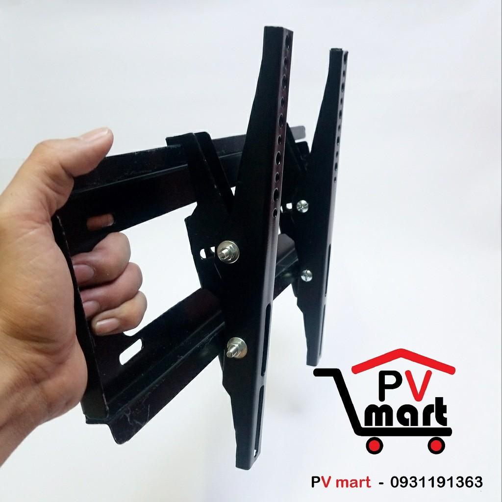 Giá treo tivi nghiêng, khung treo tivi gật gù điều chỉnh góc nghiêng tiệ