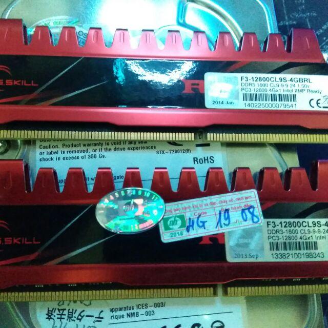 Ram gskill 4x2 1600 tản đỏ