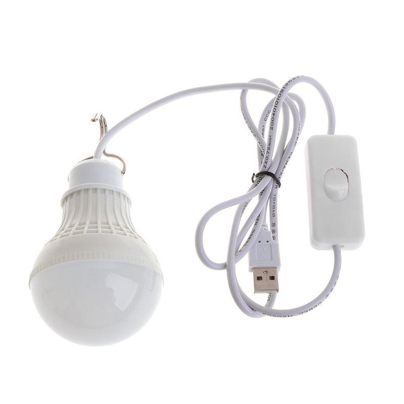 Bóng đèn led 5W cáp đầu USB đa năng tiện dụng