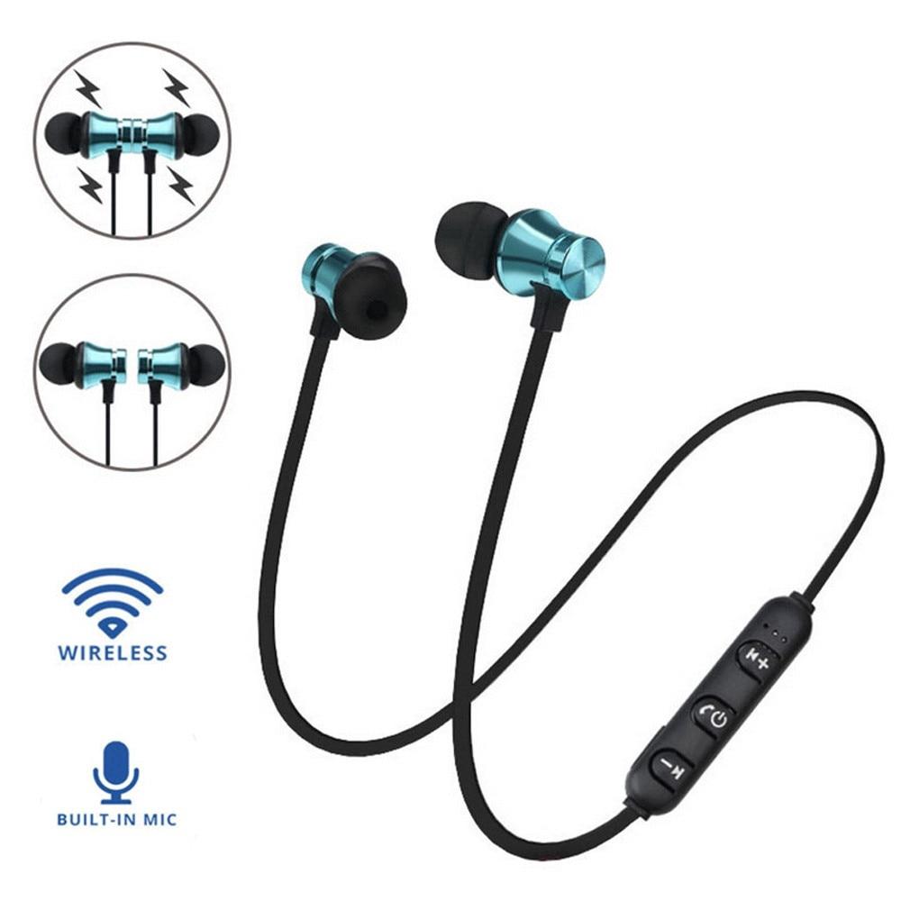 Magnetic Bluetooth 4.2 Headset XT11 Sport Running Wireless In-Ear Earphone Handsfree Headphones With Mic For Smartphones