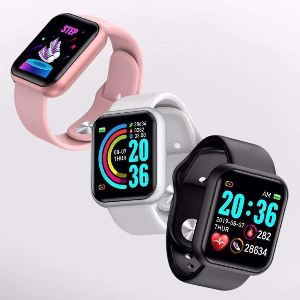 Đồng hồ Thông Minh Y68 Chống Nước Kết Nối Bluetooth Hỗ Trợ Theo Dõi Sức Khỏe Kèm Phụ Kiện
