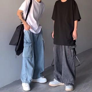 [ORDER-CÓ BIG SIZE] Quần bò jeans ống rộng túi hộp Oversize unisex Ulzzang siêu chất ❤️