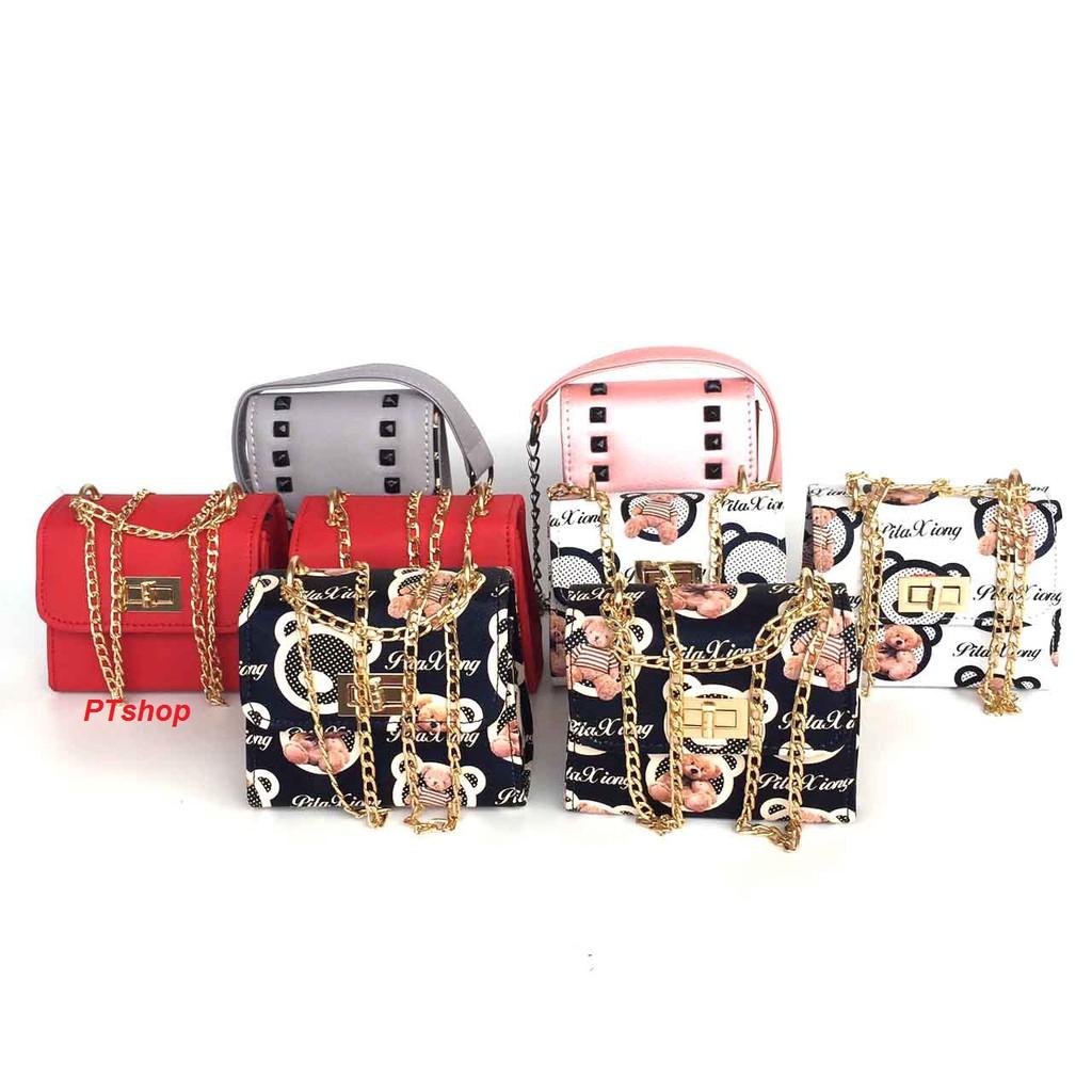 Combo 6 túi xách nữ thời trang PT15 + 2 túi đựng điện thoại