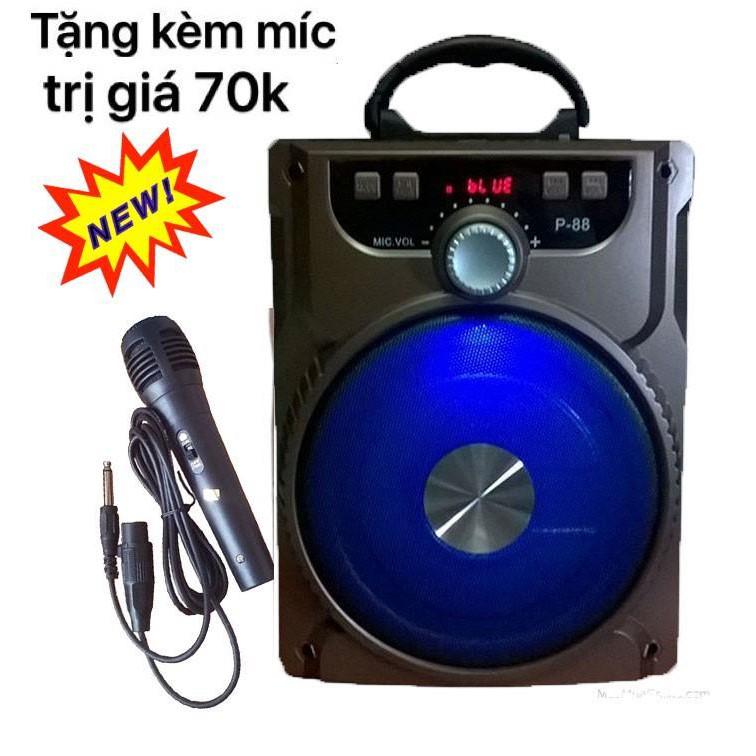 Loa Kéo Bluetooth P88 P89 KIOMIC Tặng Micro Hát Karaoke Cực Hay-Bảo hành 1 đổi 1(Có Hàng Nhiều)