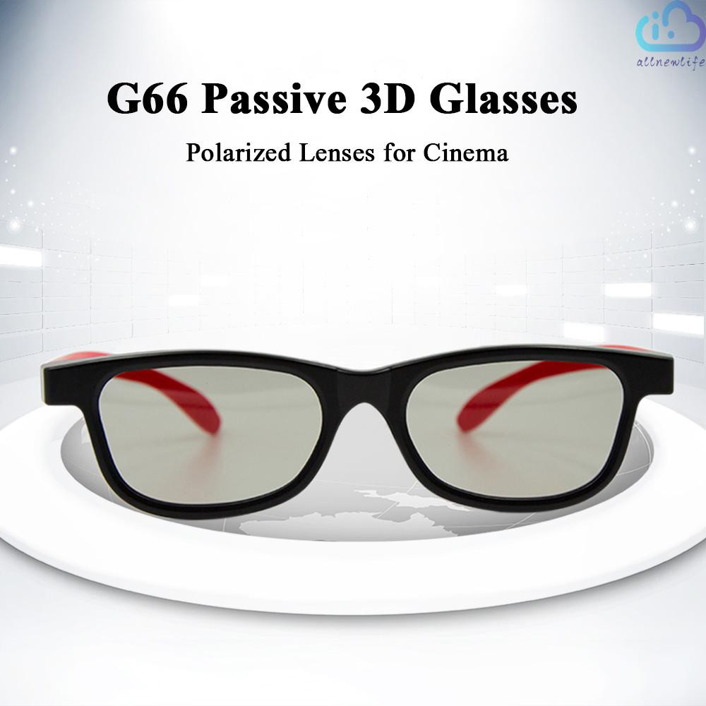 A&L G66 Passive 3D Glasses Polarized Lenses for Cinema Lightweight Portable for watching Movies