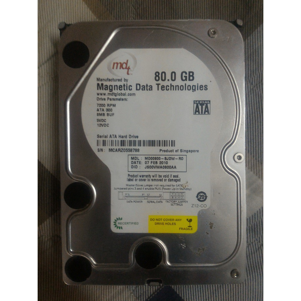 HDD / Ổ cứng Magnetic Data Technologies MD800AAJS 80GB
