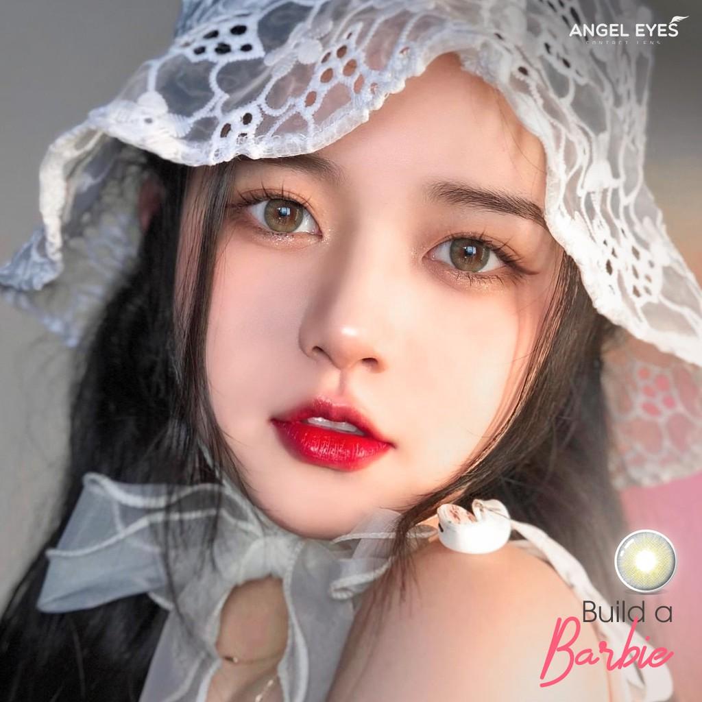 Lens xám tây có độ Build a Barbie tự nhiên hiệu Angel Eyes - Độ cận 0-8 - Đường kính...