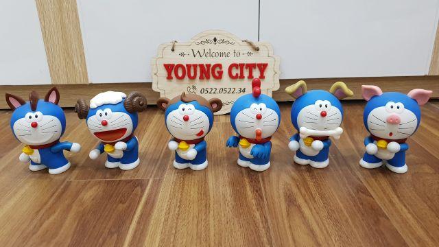 [CHỈ CÓ 1 BỘ] Bộ 12 con giáp mô hình nhân vật mèo máy Doraemon hóa trang cực đẹp
