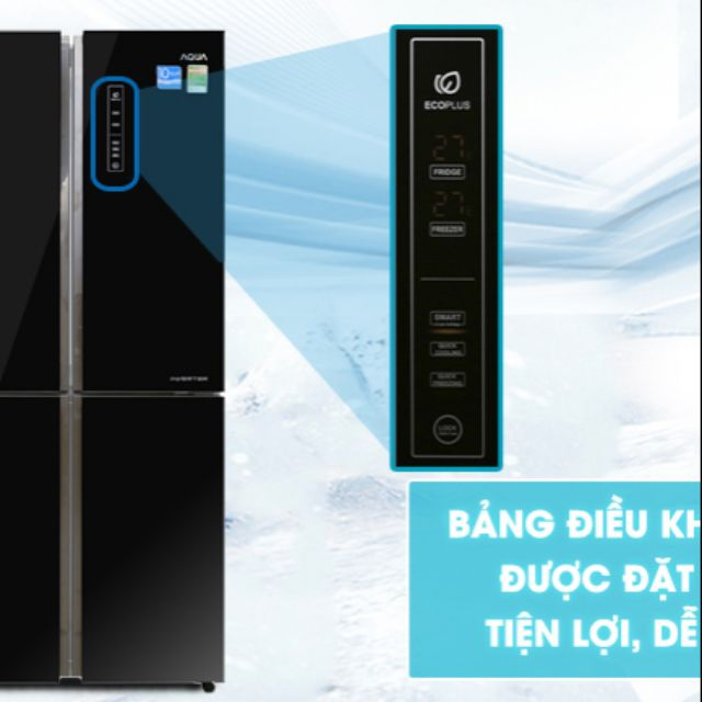 Tủ lạnh AQua side by side 456l