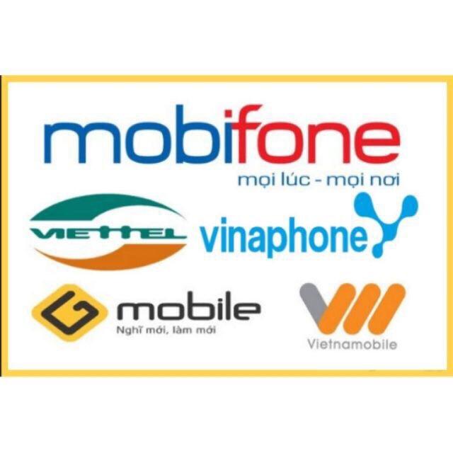 Thẻ điện thoại viettel, mobiphone, vinaphone các mệnh giá