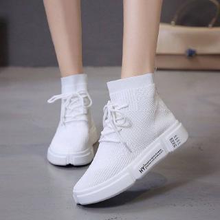 Giày Thể Thao Nữ Cổ Cao Đế Dày Thời Trang Hàn 2020
