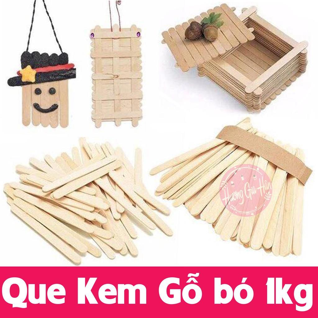 [GIẢM GIÁ]Que Kem Gỗ bó 1kg (1 cân~800 que) làm đồ handmade, đồ giáo dục Montessori (11,5x1cm)
