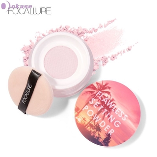 【In Stock】 FOCALLURE Top Quality Loose Powder Translucent Light Smooth Setting Powder Waterproof Oil-control Velvety Face Make up 【OK】