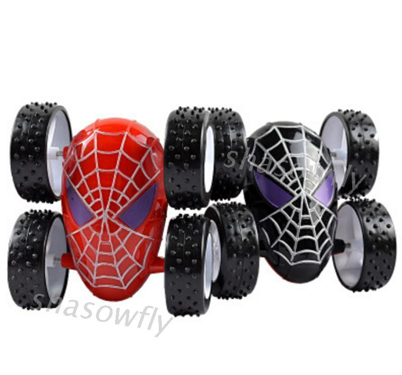 SHAS Spiderman Inertia Alloy Car Back To Force Stunt Children Novelty Toys Dumpers
