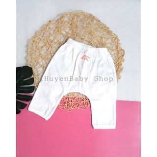 Quần dài sơ sinh. Quần dài mặc bỉm màu trắng Baby Moon cho bé từ sơ sinh đến 9kg thumbnail