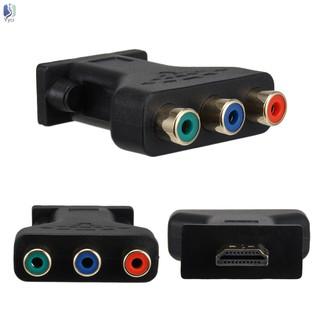 5ft/1.5m cáp chuyển đổi âm thanh video AV từ đầu HDMI sang 3 cổng RCA
