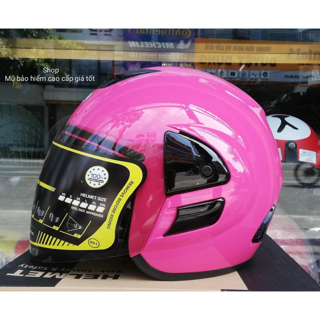 Mũ bảo hiểm chính hãng ASIA MT119 (màu hồng)