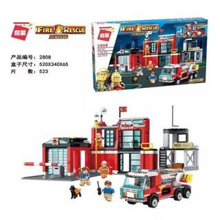 Lắp ráp Lego Trạm Cứu Hỏa – enlighten 2808