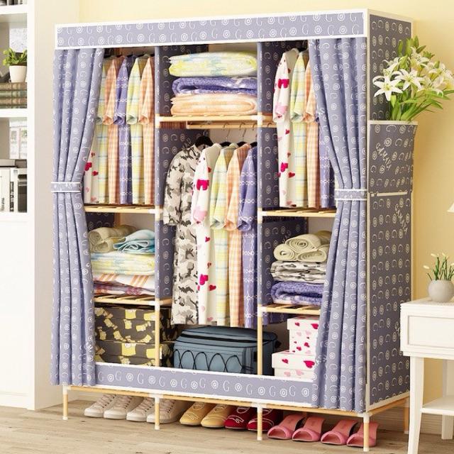 [Lẻ giá sỉ] Tủ vải khung gỗ đủ mẫu cam kết chuẩn loại 1