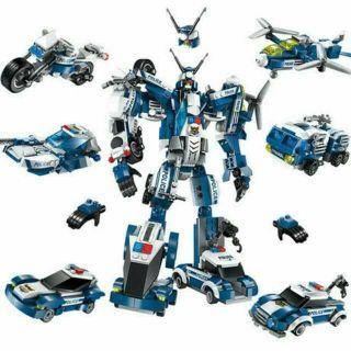 Bộ lắp ráp kiểu Lego mô hình robot cảnh sát 1407