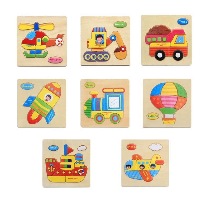 đồ chơi giáo dục cho bé TRANH LẮP GHÉP HÌNH BẰNG GỖ CHỦ ĐỀ PHƯƠNG TIỆN CÓ TIẾN