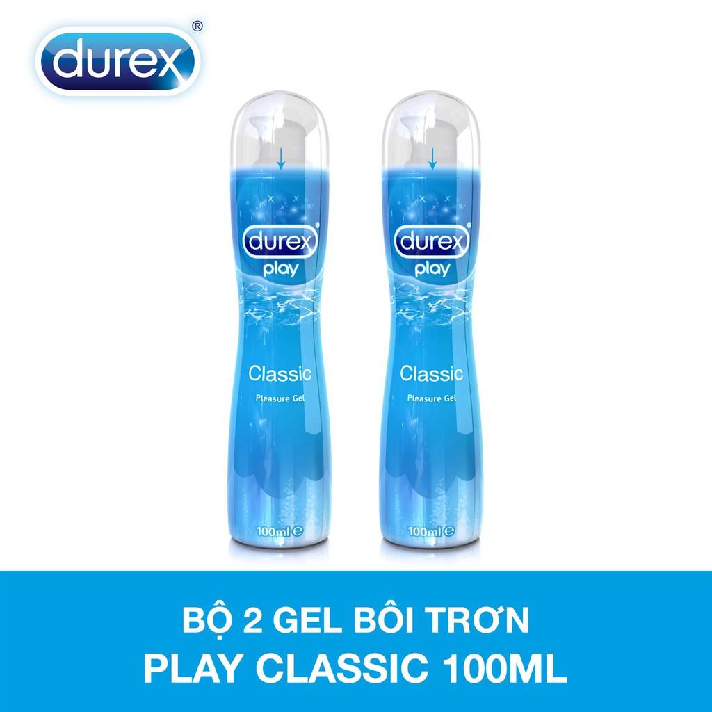 Bộ hai chai gel bôi trơn Durex Play Classic (100ml/chai)