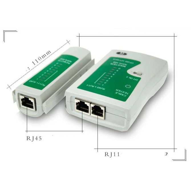 Bộ 1 Hộp test mạng đa năng RJ45 + 1 Kìm bấm mạng+ Tặng hạt mạng + Tặng 01 pin 9V