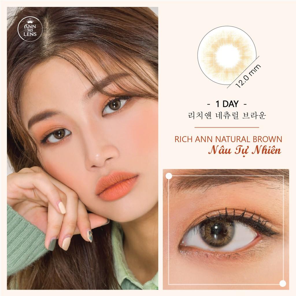 Kính Áp Tròng 1 Ngày ANN365 - Lens Màu Nâu Tự Nhiên Sử Dụng 1 Lần Rich Ann Natural Brown