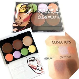 Bảng Kem Tạo Khối Che Khuyết Điểm City Color Contour & Correct Cream Palette 7 ô thumbnail