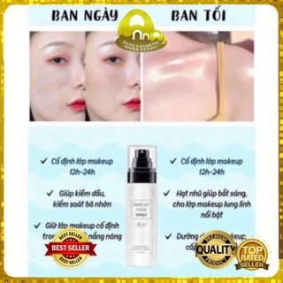 [BỀN MÀU LÂU TRÔI 12H] Xịt Khoáng Giữ Nền Makeup Fixer Spray Nâng Tông Sáng Mịn Da Chính Hãng, Cam Kết Chất Lượng -Anna