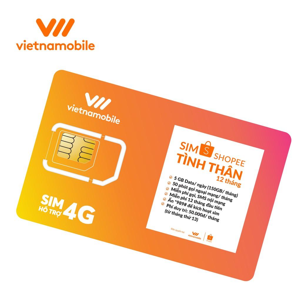 Sim Tình Thân Free Nghe gọi và Data 5GB / ngày - Chính hãng Vietnamobile