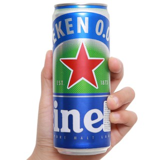 Bia Heineken không cồn 0.0% độ cồn 330ml [Lon Lẻ]