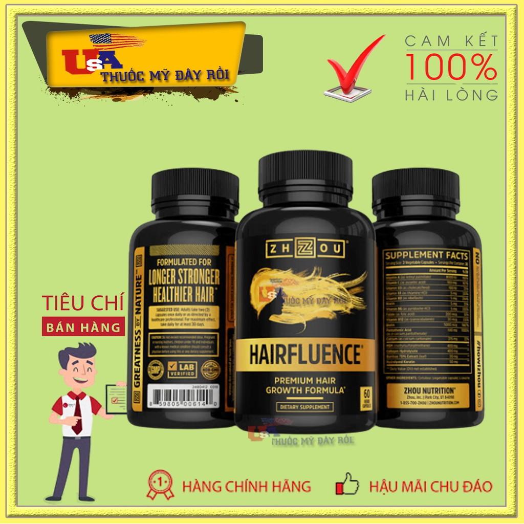 Viên Uống Hair Fluence Vitamin Mỹ Mọc Râu Tóc Nhanh