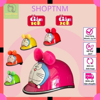 Mũ bảo hiểm cho bé, trẻ em hình Đoremon 2-4t cute dễ thương, Nón bảo hiểm cho bé, trẻ em 2-4t nhiều màu, gọn nhẹ cao cấp thumbnail