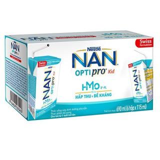 Sữa Dinh Dưỡng Pha Sẵn Nan Optipro Kid 115ml/Hộp – Thùng 6 Lốc (36 Hộp)