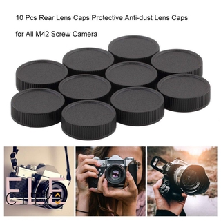 111ele 10 Pcs Rear Lens Caps Protective Anti-dust Lens Caps for All M42 Screw Camera thumbnail