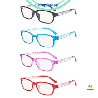 ❀SIMPLE❀ With Diopter Presbyopia Eyeglasses Reduces Eye Strain Hyperopia Eyewear Reading Glasses +1.0~+4.0 High-definition PC AC Resin Lens Spectacle Frames/Multicolor