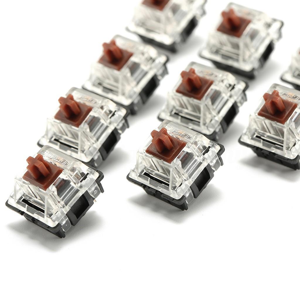 ZJ◎10 PCs Gateron RGB Series Brown 3 Pin Mechanical Switch