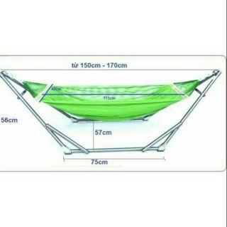 [RẺ VÔ ĐỊCH]Khung võng xếp em bé + lưới ống sắt lớn Φ32⚡FREESHIP⚡