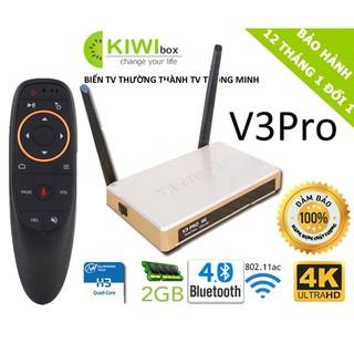 Android TV Kiwi V3 pro , kiwibox V3 pro Ram 2G xem truyền hình miễn phí , tặng đk giọng nói, bảo hành 1 năm