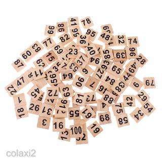 100set Wooden Puzzles Numbers Tiles Wood Crafts for Wedding Party Decoration