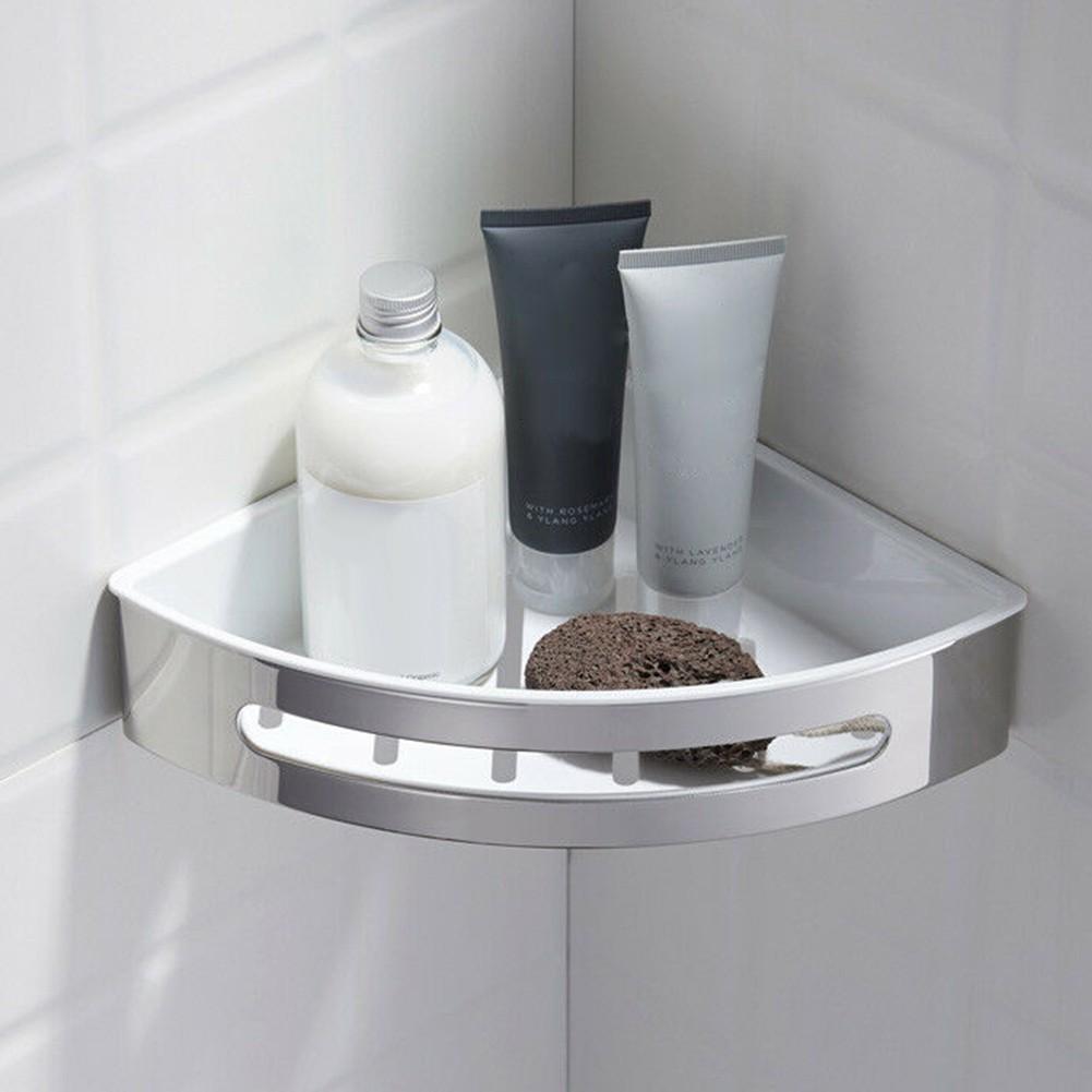 ↨COD↨Metal KitchenWall Mount Triangle ShelfCorner Rack