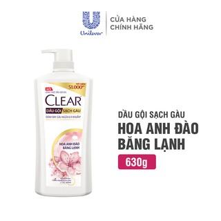 Dầu Gội Clear Hoa Anh Đào Băng Lạnh Sạch Gàu 630g chai 1