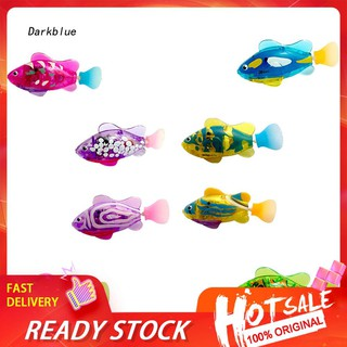 DKBL_Electronic Fish Robot Flashing Aquarium Tank Bath Tub Decor Children Toy Gift
